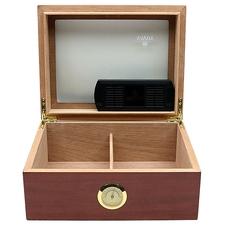 Cigar Accessories Savoy Mahogany Glass Top Medium Humidor