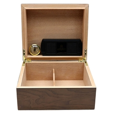 Humidors & Travel Cases Savoy Ash Burl Small Humidor