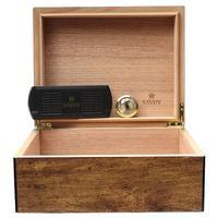 Cigar Accessories Savoy Mesquite Medium Humidor