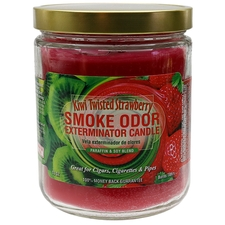 Home Fragrance Smoke Odor Exterminator Candle Kiwi Twisted Strawberries 13oz