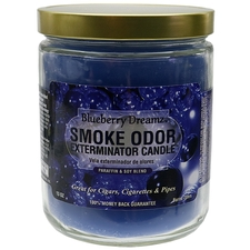 Home Fragrance Smoke Odor Exterminator Candle Blueberry Dreamz 13oz