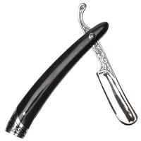 Pipe Tools & Supplies Glotov Straight Razor Electroplated Nickel Silver and Buffalo Horn Tamper with Case
