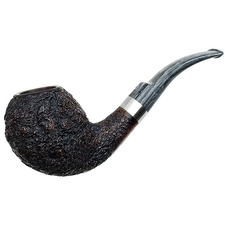 Ardor Urano Black Rusticated Bent Egg with Silver