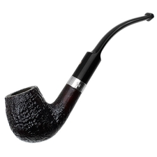 Ashton Pebble Grain Bent Billiard with Silver (XXX)