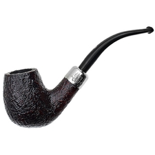 Ashton Pebble Grain Bent Billiard with Silver Army Mount (XXX)