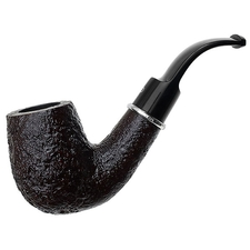 Ashton Pebble Grain Bent Billiard with Silver (LX)