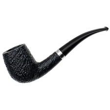 Musico Sandblasted Bent Billiard with Silver (Special)