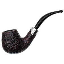 Musico Sandblasted Bent Billiard with Silver (Floodlight Special)