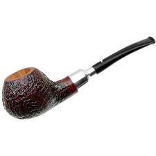 Caminetto Sandblasted Bent Apple with Silver Spigot (06) (AR)