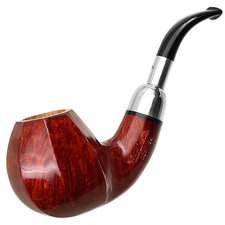 Caminetto Smooth Paneled Bent Brandy with Silver Spigot (00) (AR)