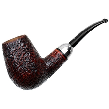Caminetto Sandblasted Bent Brandy with Silver (Moustache) (06) (AR)