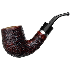 Caminetto Sandblasted Bent Billiard with Silver (06) (AR)