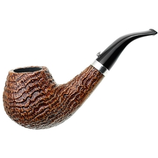 L'Anatra Sandblasted Bent Brandy with Silver (Gigante)