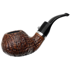 L'Anatra Sandblasted Bent Apple with Silver