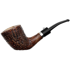 L'Anatra Sandblasted Bent Dublin Sitter with Silver
