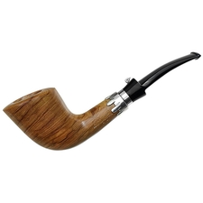 L'Anatra Smooth Olivewood Bent Dublin with Silver (Two Egg)