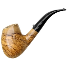 L'Anatra Smooth Olivewood Bent Egg (Two Egg)