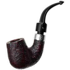 Peterson House Pipe Sandblasted Bent Billiard P-Lip