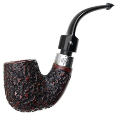 Peterson House Pipe Rusticated Bent Billiard P-Lip
