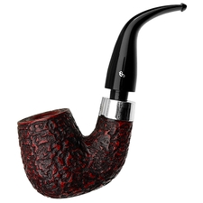 Peterson House Pipe Rusticated Bent Billiard Fishtail