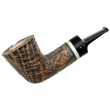 Radice Silk Cut Aero Reverse Calabash Dublin with Antler and Tamper
