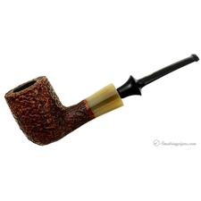 Savinelli Nonpareil Rusticated Brown Billiard