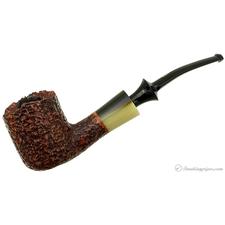 Savinelli Nonpareil Rusticated Brown Bent Pot