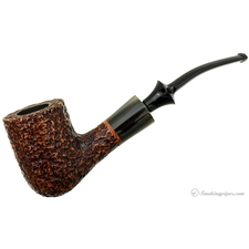 Savinelli Nonpareil Rusticated Brown Bent Billiard