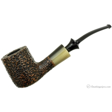 Savinelli Nonpareil Rusticated Black Bent Pot