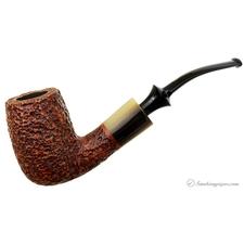 Savinelli Nonpareil Rusticated Brown Bent Billiard