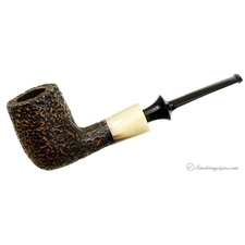 Savinelli Nonpareil Rusticated Black Billiard
