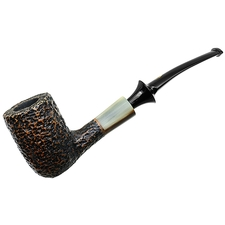 Savinelli Nonpareil Rusticated Black Bent Billiard