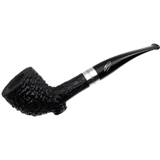 Savinelli 135th Anniversary Rusticated Cutty with Silver and Stand (6mm)