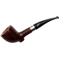 Savinelli 135th Anniversary Smooth Dark Brown Cutty with Silver and Stand (6mm)