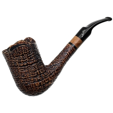 Savinelli Autograph Sandblasted Bent Billiard (6mm)