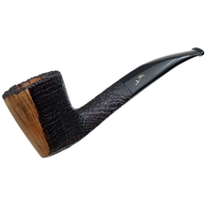 Savinelli Autograph Freestyle Partially Sandblasted Bent Dublin (6mm)