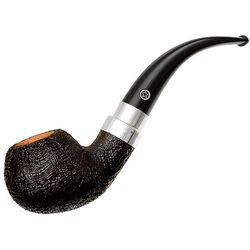 Mark Tinsky Sandblasted Bent Apple with Silver (5) (One Star)
