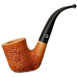 Mark Tinsky Tan Sandblasted Bent Billiard (4) (Two Stars)