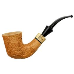 Mark Tinsky Tan Sandblasted Bent Dublin with Spalted Maple (B) (One Star)