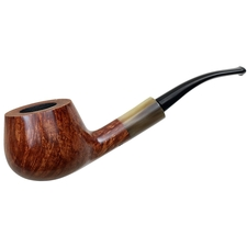 Randy Wiley Smooth Bent Pot with Horn (66)