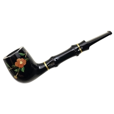 Tsuge Urushi Camellia Billiard with Bamboo and Tamper
