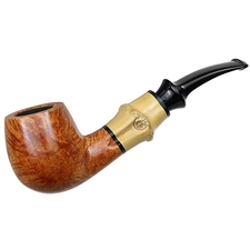 Tsuge Chubby Smooth Bent Billiard with Bamboo (9mm)