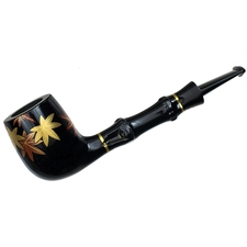 Tsuge Urushi Maple Leaf Billiard with Bamboo and Tamper