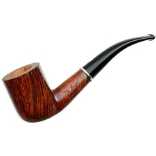 Ser Jacopo Smooth Walnut Bent Billiard with Silver (L1)