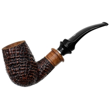 Ser Jacopo Sandblasted Bent Billiard Delecta (S2)