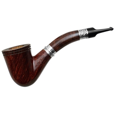 Ser Jacopo Calumet Smooth Bent Dublin with Silver (1) (L1)
