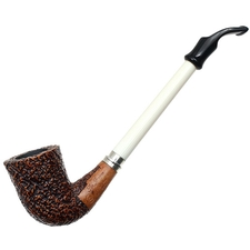 Ser Jacopo Albatro Sandblasted Bent Billiard (S1)