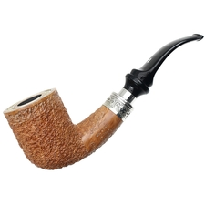 Ser Jacopo Leonardo Spongia Rusticated Bent Billiard Delecta with Silver (R2)