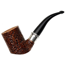Ser Jacopo Sandblasted Bent Billiard Cymatium with Silver (S2)