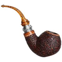 Ser Jacopo Historica 2020 Pulchra Rusticated Bent Apple Sitter with Silver (R1)